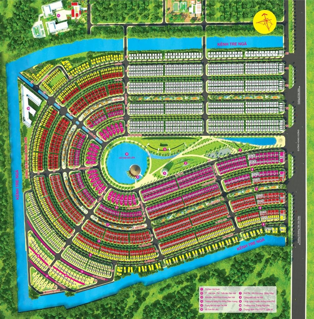 bản đồ phân lô làng sen việt nam