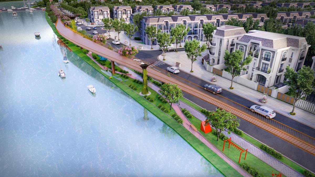 Lavilla Green City bên dòng sông Vàm Cỏ thơ mộng
