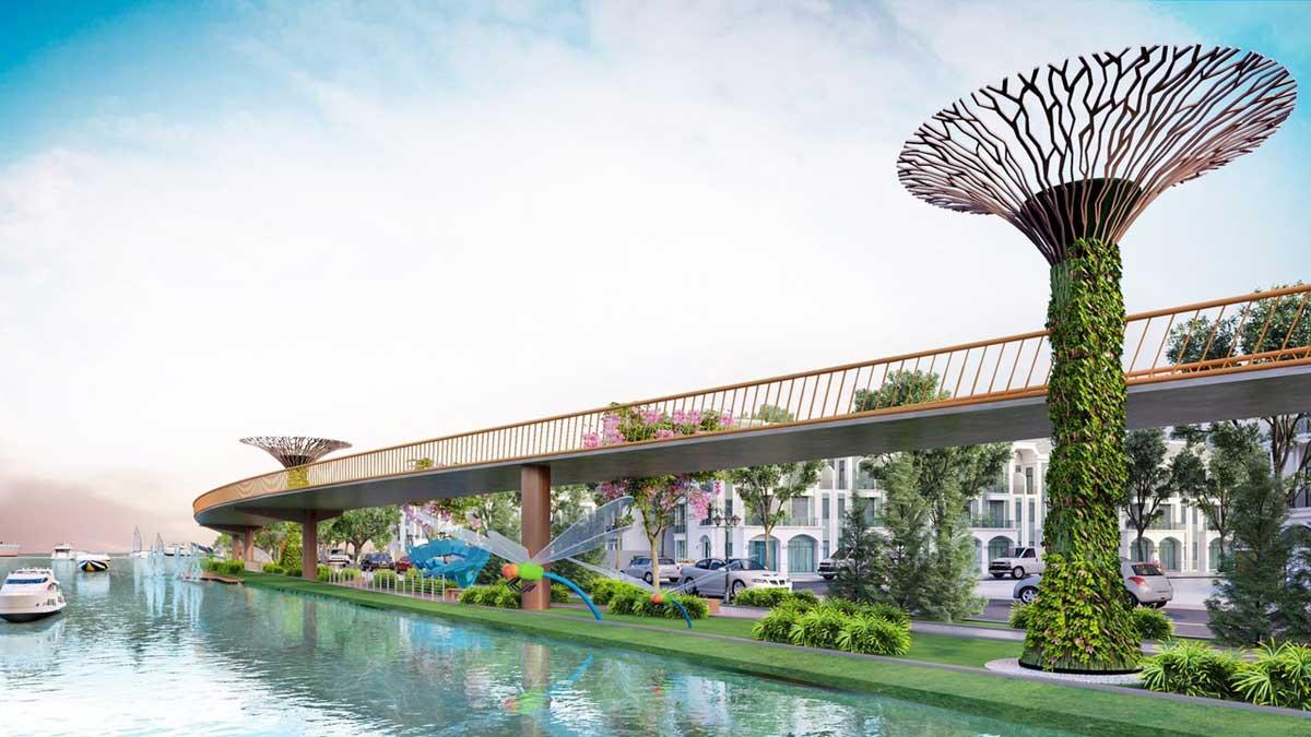 Lavilla Green City nằm bên dòng sông Vàm Cỏ thơ mộng